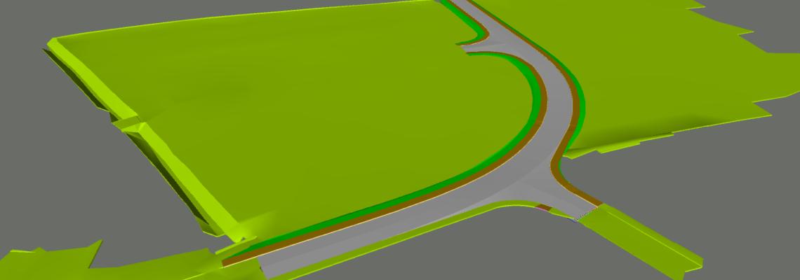 Highway 3D BIM model with Navisworks
