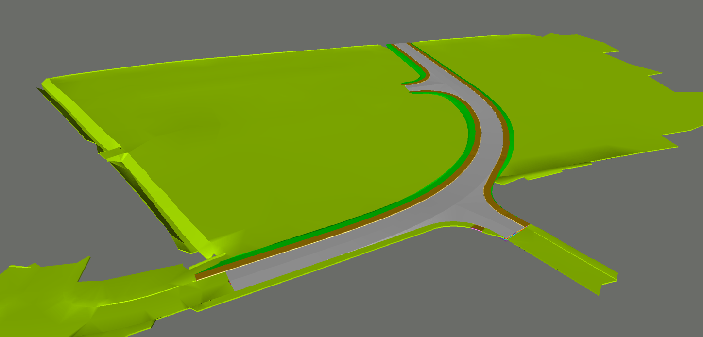 Highway 3D BIM model with Navisworks